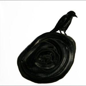 Originalzeichnung #1 von Peter Radelfinger zur limitierten Vinyl-Edition der «Lieder zum Schluss». ©Peter Radelfinger, 2011.