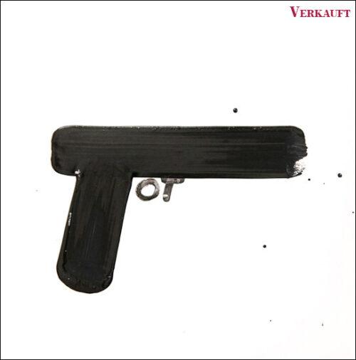 Originalzeichnung #10 von Peter Radelfinger zur limitierten Vinyl-Edition der «Lieder zum Schluss». ©Peter Radelfinger, 2011. VERKAUFT.