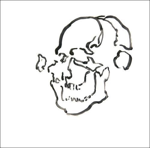 Originalzeichnung #16 von Peter Radelfinger zur limitierten Vinyl-Edition der «Lieder zum Schluss». ©Peter Radelfinger, 2011.
