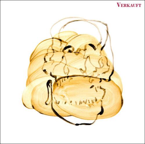 Originalzeichnung #17 von Peter Radelfinger zur limitierten Vinyl-Edition der «Lieder zum Schluss». ©Peter Radelfinger, 2011. VERKAUFT.