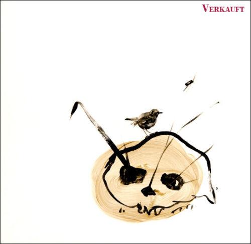 Originalzeichnung #21 von Peter Radelfinger zur limitierten Vinyl-Edition der «Lieder zum Schluss». ©Peter Radelfinger, 2011. VERKAUFT.