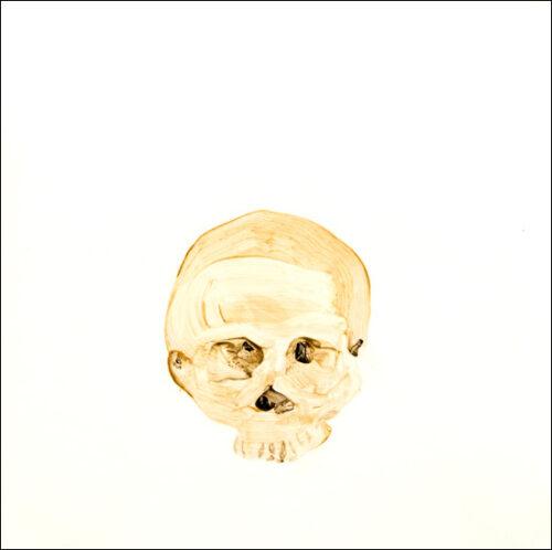 Originalzeichnung #23 von Peter Radelfinger zur limitierten Vinyl-Edition der «Lieder zum Schluss». ©Peter Radelfinger, 2011.