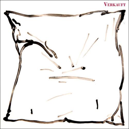 Originalzeichnung #28 von Peter Radelfinger zur limitierten Vinyl-Edition der «Lieder zum Schluss». ©Peter Radelfinger, 2011. VERKAUFT.