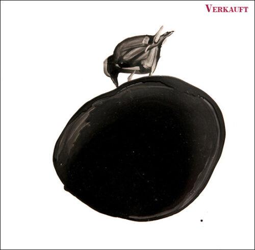 Originalzeichnung #29 von Peter Radelfinger zur limitierten Vinyl-Edition der «Lieder zum Schluss». ©Peter Radelfinger, 2011. VERKAUFT.