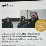 Flyer fürs sphères (Ausschnitt). Foto auf Flyer: Jozo Palkovits, 2019.