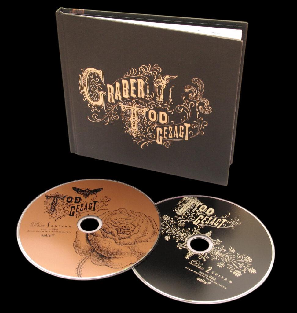 Hochwertig gestaltete Doppel-CD «GRABER: Todgesagt» in schönem Leineneinband.