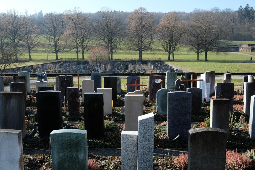 Friedhof Eichbühl. Einer der Aufführungsorte von Letzte Worte.
