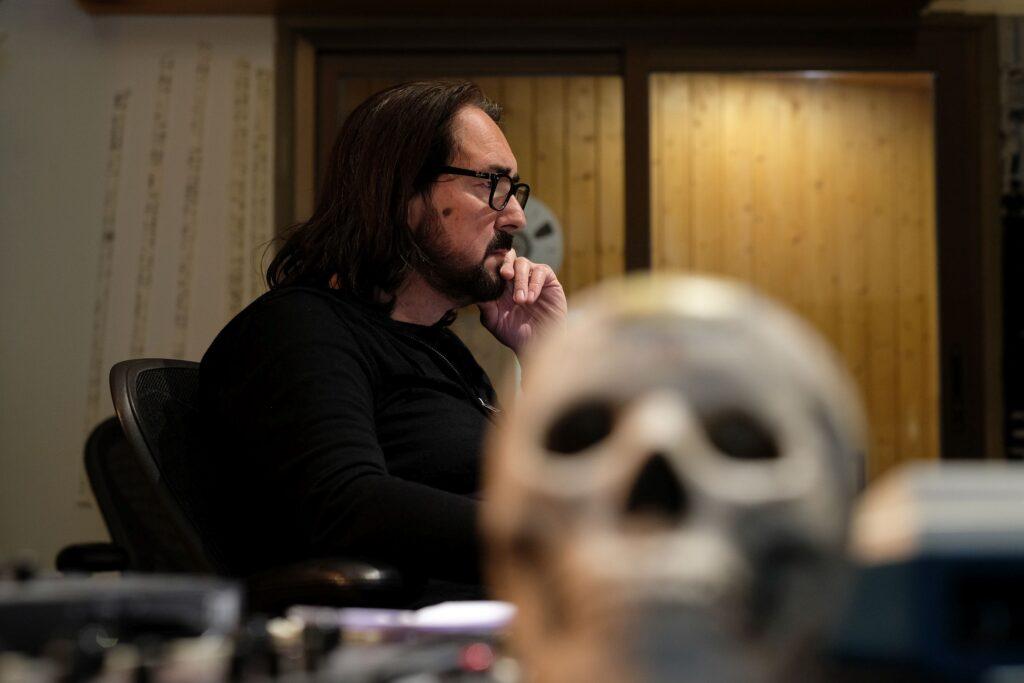 Tommy Vetterli beim Mischen von «Schattenklang», New Sound Studio, 14. Mai 2020. Foto: jag